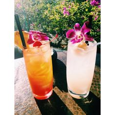"""Trump Waikiki's """"mocktails"""" - handcrafted, non-alcoholic drinks. Here are our 'Island Sunset' and 'Lychee Fizz'"""