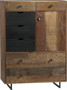 Atwood Tall Chest in Dressers, Chests | Crate and Barrel  The structure of this design reminds me of my homeland's (Japan) paulownia chests. I love this rustic and chic design.