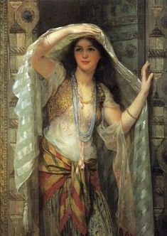 Arabian Girl - Egyptian Art - Arabian Art - Handmade Oil Painting On Canvas - Orient - Moritz Von Schwind, Bagdad, Arabian Art, Pre Raphaelite, Egyptian Art, Art Plastique, Beautiful Paintings, Belly Dance, Oil Painting On Canvas