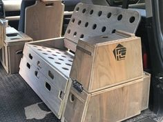 Bed/Bench & Storage Boxes — Fifth Element Camping