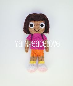 Knitting Pattern For Dora The Explorer Doll : Dora the explorer on Pinterest Dora The Explorer, Crochet Hats and Crochet ...