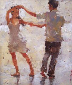 Andre Kohn Rain or Shine Telas ... uma mais linda que a outra, retratando a leveza, delicadeza e beleza da dança ... simplesmente LINDO!!!!