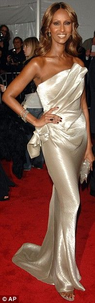 Iman in Donna Karan at the 2009 Met Gala, May 2009
