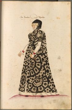 A woman from Byzantium, c.1550-1575, from Costumes of men and women in Augsburg and Nuremberg, Germany, Europe, Orient and Africa