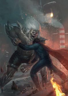 Doomsday vs Superman  by Memed Ozen