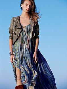 flowy dress + jacket