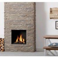 Nou met #steenstrips van #Rusticostones.nl Global Fires 60XT BF