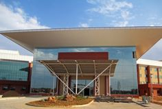 Tensile Cables - Photostory: Academic Hospital Near Completion Fabric Structure, Steel Structure, Photo Story, Looking Back, Canopy, Entrance, Outdoor Decor, News, Projects