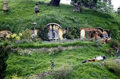 Hobbit houses maybe this is a retirement house.