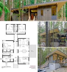 Creative container home design. #cabininthewoods Small House Plans, House Floor Plans, Wooden House Plans, Wooden Houses, Modern Floor Plans, Plan Architecture Maison, Modern Architecture, Method Homes, Prefab Cabins