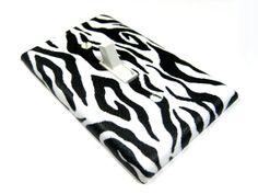 Light Switch Cover Black and White Zebra Stripes by ModernSwitch, $6.00