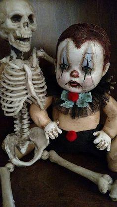 Creepy Clown Doll by Mel Fleischer
