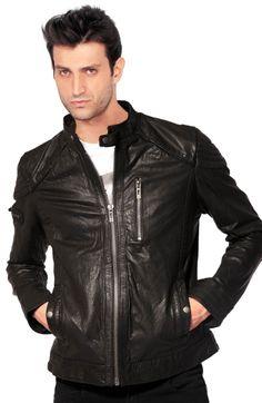 Lean Fitting Mens Biker Jacket | Leather Biker Jackets For Men ...