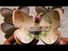 Mini Butterfly Shape Note Cards - YouTube