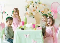 Forest friends birthday party recipe ideas- more pixies, spring, bugs type thing than forest animals