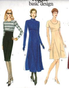 Vogue 1900 EASY Dress pattern  Sz 20-24. by EXTREMESEWINGDIVA