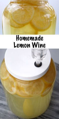 Homebrewing wine Homemade Lemon Wine Recipe for Home brewing. Lemon wine tastes like sipping summertime and its really easy to make at home with just a few simple ingredients. Homemade Wine Recipes, Homemade Alcohol, Homemade Liquor, Fermentation Recipes, Homebrew Recipes, Brewing Recipes, Ginger Ale, Lemon Wine Recipe, Mead Recipe