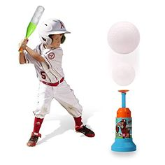 Kids Baseball Launcher SetTraining Semi-Automatic Launcher Baseball Set For Children With 3 Balls Indoor Outdoor Sports Baseball Games T-Ball Set for Children Play Baseball Games, Baseball Guys, Sports Baseball, Sports Toys, Kids Sports, Indoor Outdoor, Sports Activities For Kids, Indoor Activities, Coaching