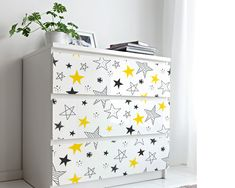 Upgrade your walls with this cute Stars Nursery Wallpaper adding a beautiful and comfy environment to your baby's room. Nursery Wallpaper, More Wallpaper, Fabric Wallpaper, Nursery Furniture, Furniture Decor, Simple Addition, Star Nursery, Cute Stars, Self Adhesive Wallpaper