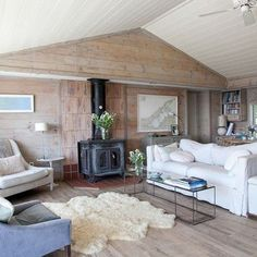 cozy and simple beach house interior