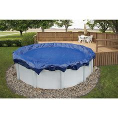 Round Royal Blue Above Ground Winter Pool Cover, Blues pool landscaping Blue Wave 21 ft. Round Royal Blue Above Ground Winter Pool - The Home Depot Oval Above Ground Pools, Best Above Ground Pool, Above Ground Swimming Pools, In Ground Pools, Above Ground Pool Landscaping, Backyard Pool Landscaping, Landscaping Ideas, Landscaping Logo, Shade Landscaping