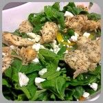 Spinach, Chicken, and Feta Salad weight wise