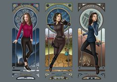 Art Nouveau - Agents of SHIELD Ladies by eclecticmuse.deviantart.com on @DeviantArt