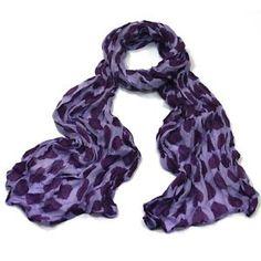 ladies scarf Purple Love Heart design scarves shawls wrap neck soft fashion