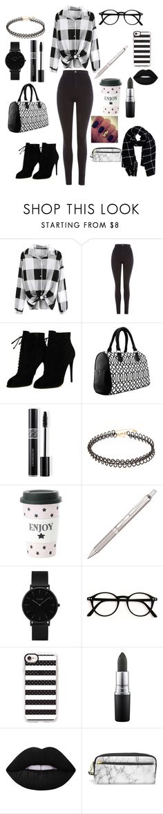 """""""Untitled #350"""" by reka15 on Polyvore featuring Topshop, Tom Ford, Christian Dior, Miss Étoile, Pentel, CLUSE, Casetify, MAC Cosmetics, Lime Crime and Warehouse"""