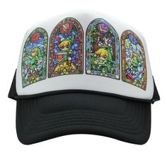 cf6a625cf93 The Legend of Zelda Stained Glass hat from ShirtAndCup on Etsy!