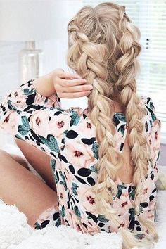 Double Dutch Braid on @kassinka who is wearing her #luxyhairextensions to add length and volume to the braids <3