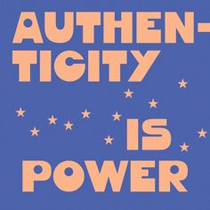 Authenticity is Power iPhone Wallpaper Design by @kinzco #wallpaper #design #typography #authentic #weirdo #wallpaperdesign #powerful #goddess #stars #pink #peach #blue