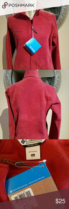 Brand New Columbia Fleece Jacket Rust Ladies, rust/brick red is the color of the season. This soft fleece zip up jacket is NWT and in right now. Don't miss out. This is a cozy gift. Columbia  Jackets & Coats