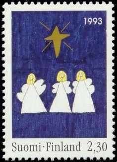 Joulupostimerkki 1993 2/2 - Enkelit