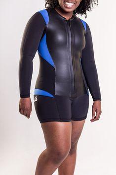 The Truli-Hapi long-sleeve wetsuit shorty for women – Truli Wetsuits Scuba Wetsuit, Triathlon Wetsuit, Womens Wetsuit, Long Torso, Surf Outfit, Signature Design, Second Skin, Perfect Fit, Plus Size
