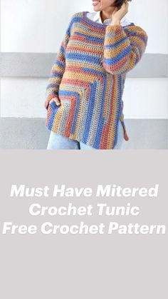 Crochet Sweaters, Crochet Jacket, Freeform Crochet, Crochet Cardigan, Crochet Shawl, Crochet Yarn, Crochet Clothes, Rainbow Crochet, Love Crochet