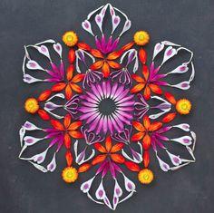 Kathy Klein flower mandala