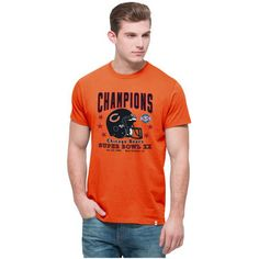 Chicago Bears '47 On the Fifty Super Bowl XX Champion Flanker T-Shirt - Orange