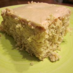 BANANA CAKE - uses a boxed yellow cake mix and a few awesome ingredients. Perfect way to use your over ripe bananas :)