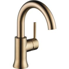Buy the Delta Champagne Bronze Direct. Shop for the Delta Champagne Bronze Trinsic GPM Single Hole Bathroom Faucet - Includes Metal Pop-Up Drain Assembly and save. Lavatory Faucet, Bathroom Sink Faucets, Bathrooms, Bathroom Fixtures, Bath Vanities, Kitchen Faucets, Bronze Kitchen, Gold Kitchen, Kitchen Cabinets
