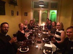 #Teamsomeco'n pikkujouluruokailu 2015 Osteria Ovossa. Kaksi ruokalajia takana, lisää tulossa! 🍴