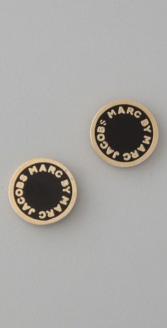 black & gold marc jacobs earring studs