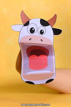 Printable cow puppet crafts for kids. Printable cow puppet crafts for kids. Farm Animal Crafts, Animal Crafts For Kids, Paper Crafts For Kids, Craft Activities For Kids, Toddler Crafts, Crafts To Do, Preschool Crafts, Art For Kids, Animals For Kids