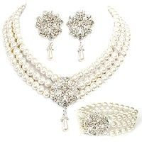 I think you'll like Colour bride beaded pearl necklace earrings bracelet the wedding jewelry wedding accessories three pieces set. Add it to your wishlist!  http://www.wish.com/c/51ee6cfd7743c614372f9d19