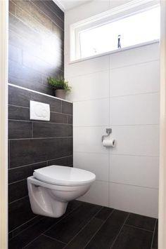 Meer dan 1000 afbeeldingen over wc inspiratie op pinterest toiletten grijs en tegel - Deco toilet grijs en wit ...