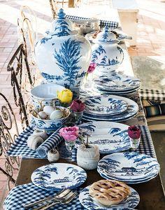 """Country Estate"", color: Delft blue   Juliska, with Isis Ceramics"