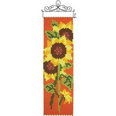 Herrschners® Sunflowers Beaded Banner Kit