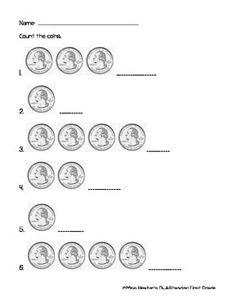 Printables Counting Quarters Worksheet coin counting worksheets quarters dimes nickels and pennies k simple worksheet practicing quarters