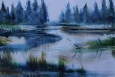 akvarell watercolor landscape abstract abstraktne maastik soo, Keiu Kuresaar