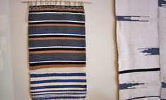 """Nightwood - lowtide tapestry __   cotton & wool, 20"""" x 36"""",  $280"""